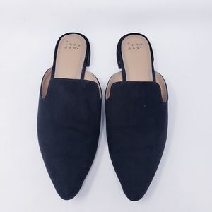 A New Day Black Pointed Toe Mules Black Size 9.5